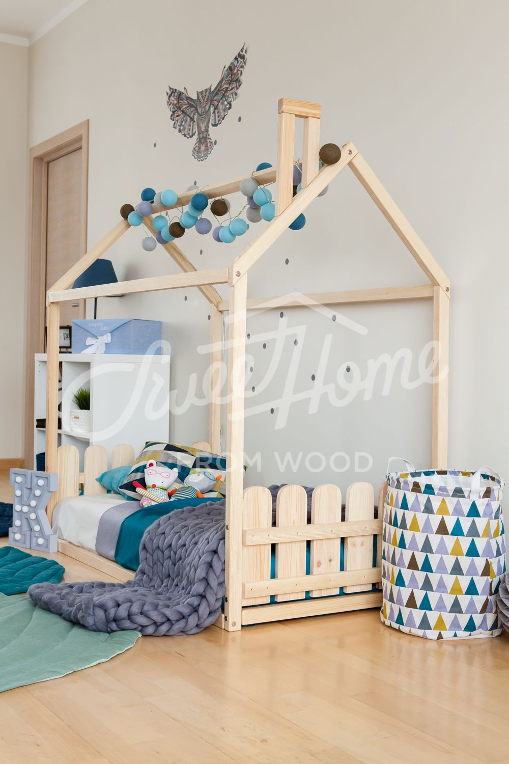 House Bed Twin Montessori Floor Bed Toddler House Bed House Bed Frame Toddler Bed House Floor Bed Frame House
