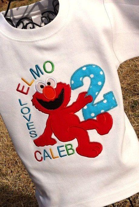 Boys Birthday Elmo 2295 Via Etsy