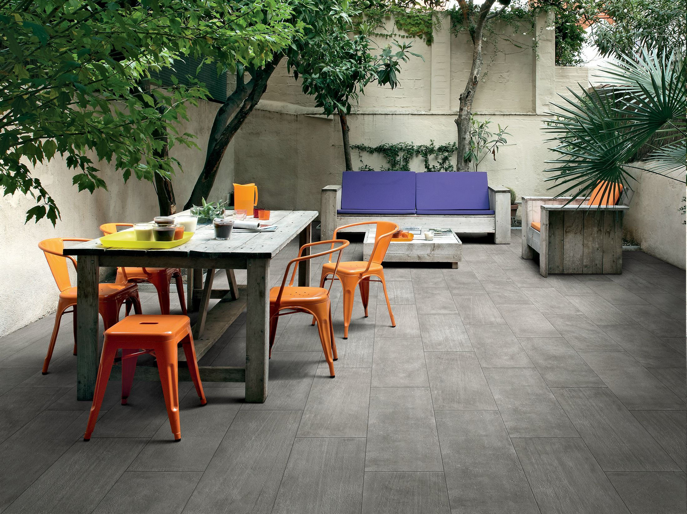 Outdoor Concrete Tile Flooring Available at Express