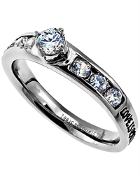Princess Solitaire Ring Love Never Fails
