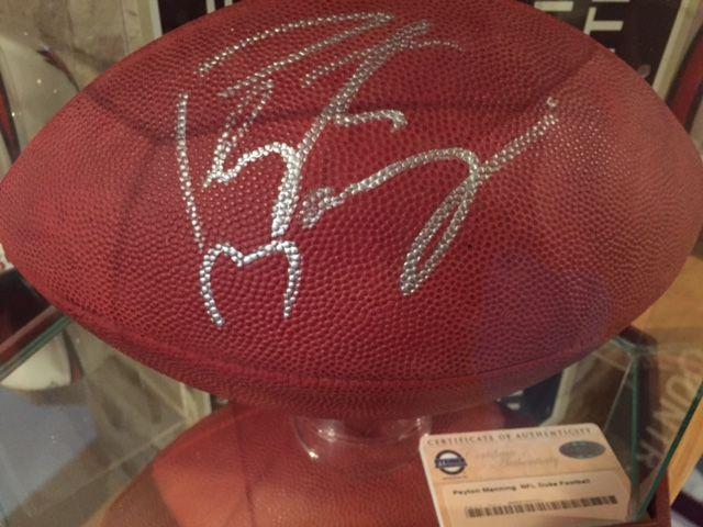 Peyton Manning Signed Football