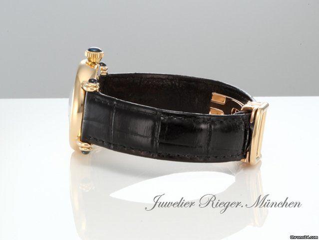 Cartier DIABOLO LADY GELBGOLD 750 LEDER Damenuhr Gold
