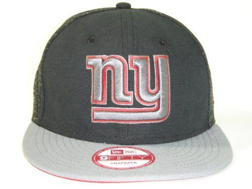 brand new 77978 2133f New Era NFL New York Giants Black Dark Gray 2 Tone Snapback Cap 9fifty  NewEra by