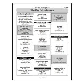 Print-and-Use Worksheet Nonfiction: Classified