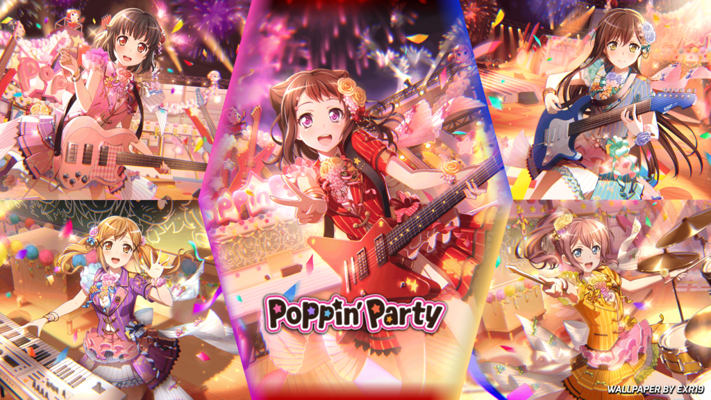 Poppin Party Poppin Party Wallpaper Display