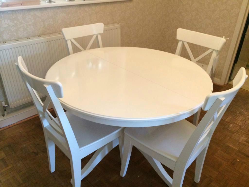 ikea INGATORP   חיפוש ב Google   White round kitchen table ...