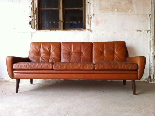 mid century sofa leder danish design d nemark 50er 60er in altona hamburg sternschanze ebay. Black Bedroom Furniture Sets. Home Design Ideas