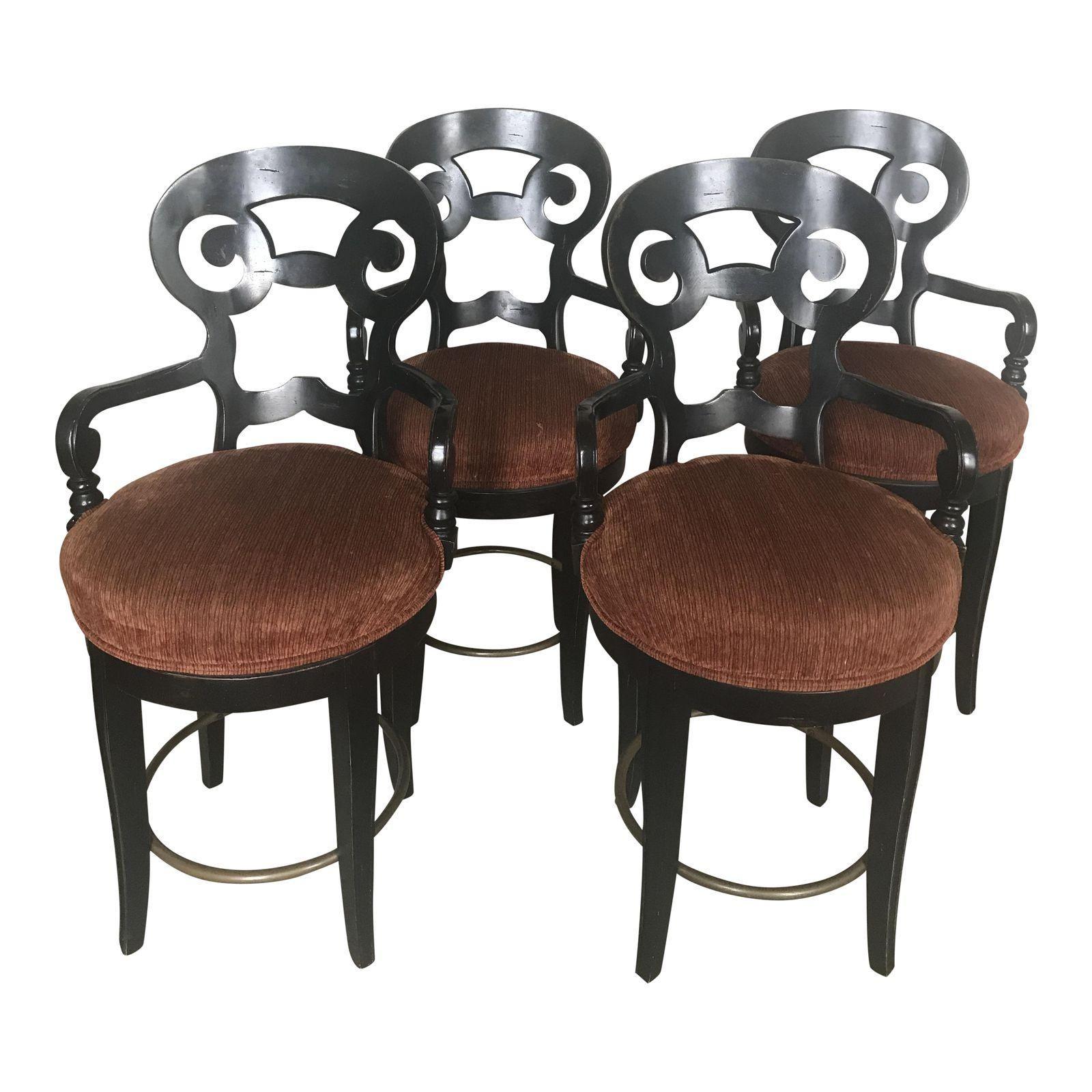 Century Furniture Swivel Counter Stools Set of 4