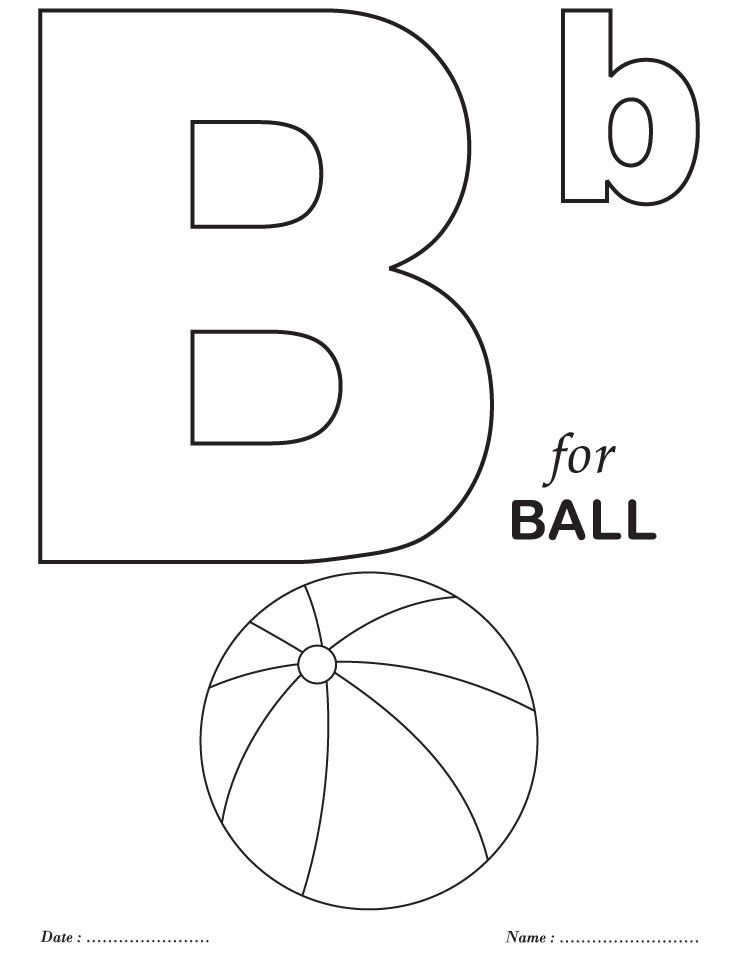 b coloring page # 7
