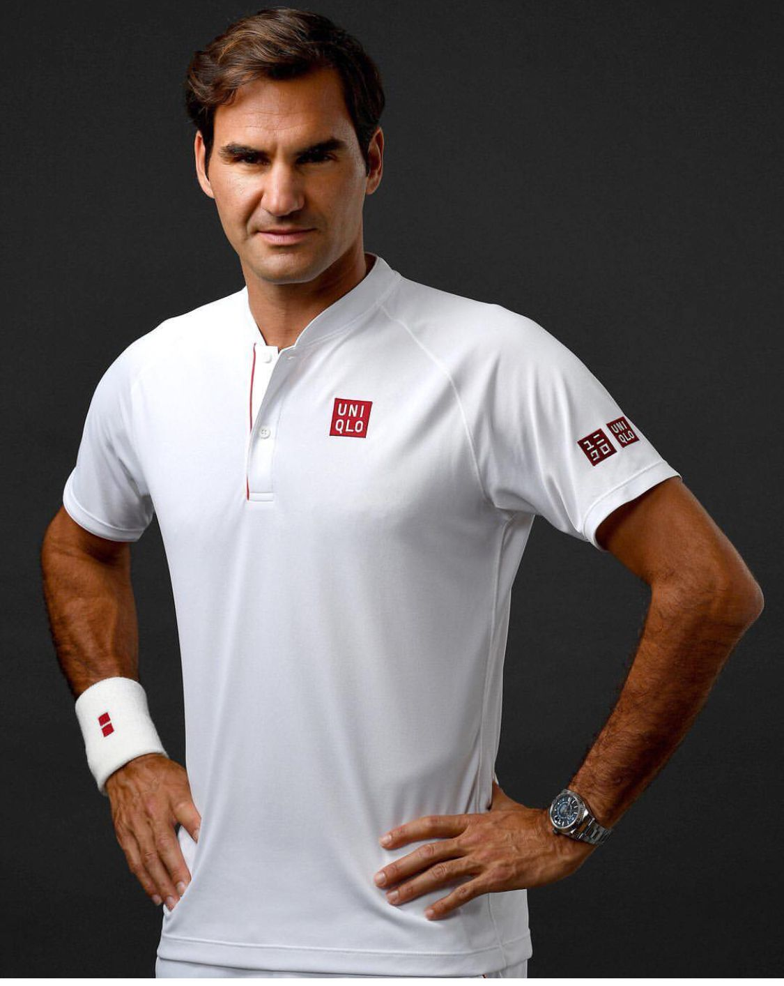 74d72926 Activewear UNIQLO × Roger Federer Tennis Polo Shirt 2018 Wimbledon model  NEW!