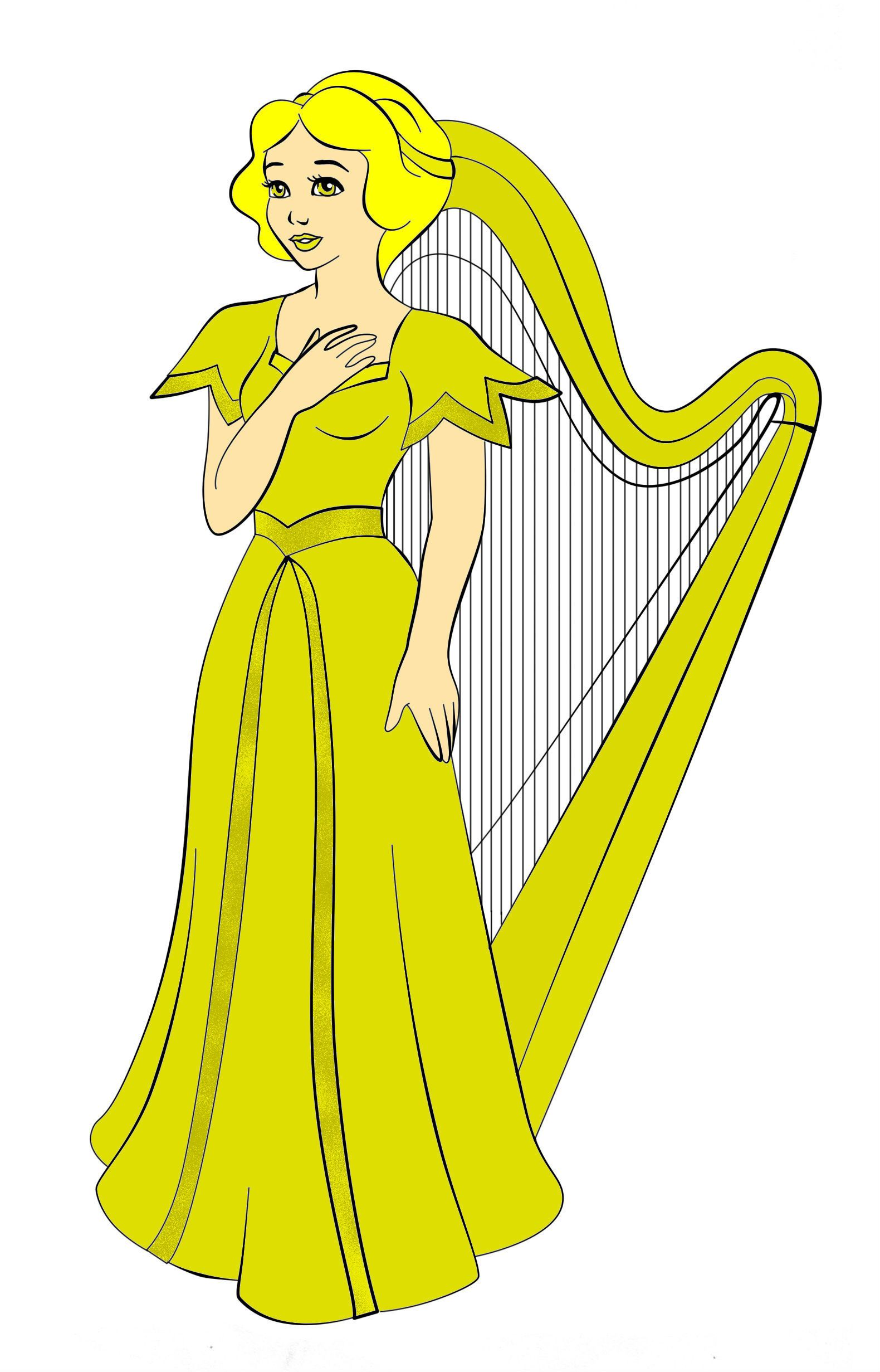 Snow White As Golden Harp By Ruby Viantart On Deviantart