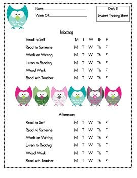 Free Daily  Rotation Labels  Daily  Guided Reading  Elar