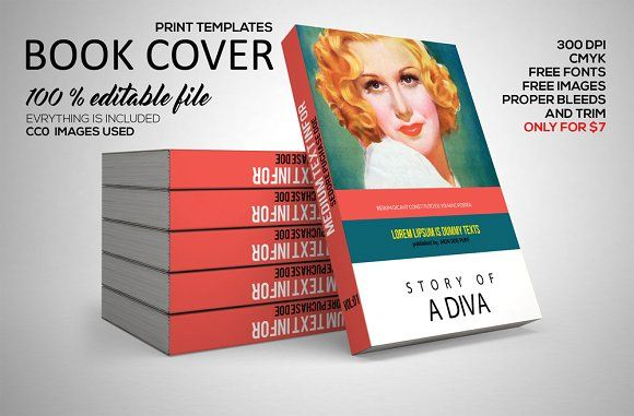 Book Cover Print Template PSD by Psd Templates on @creativemarket