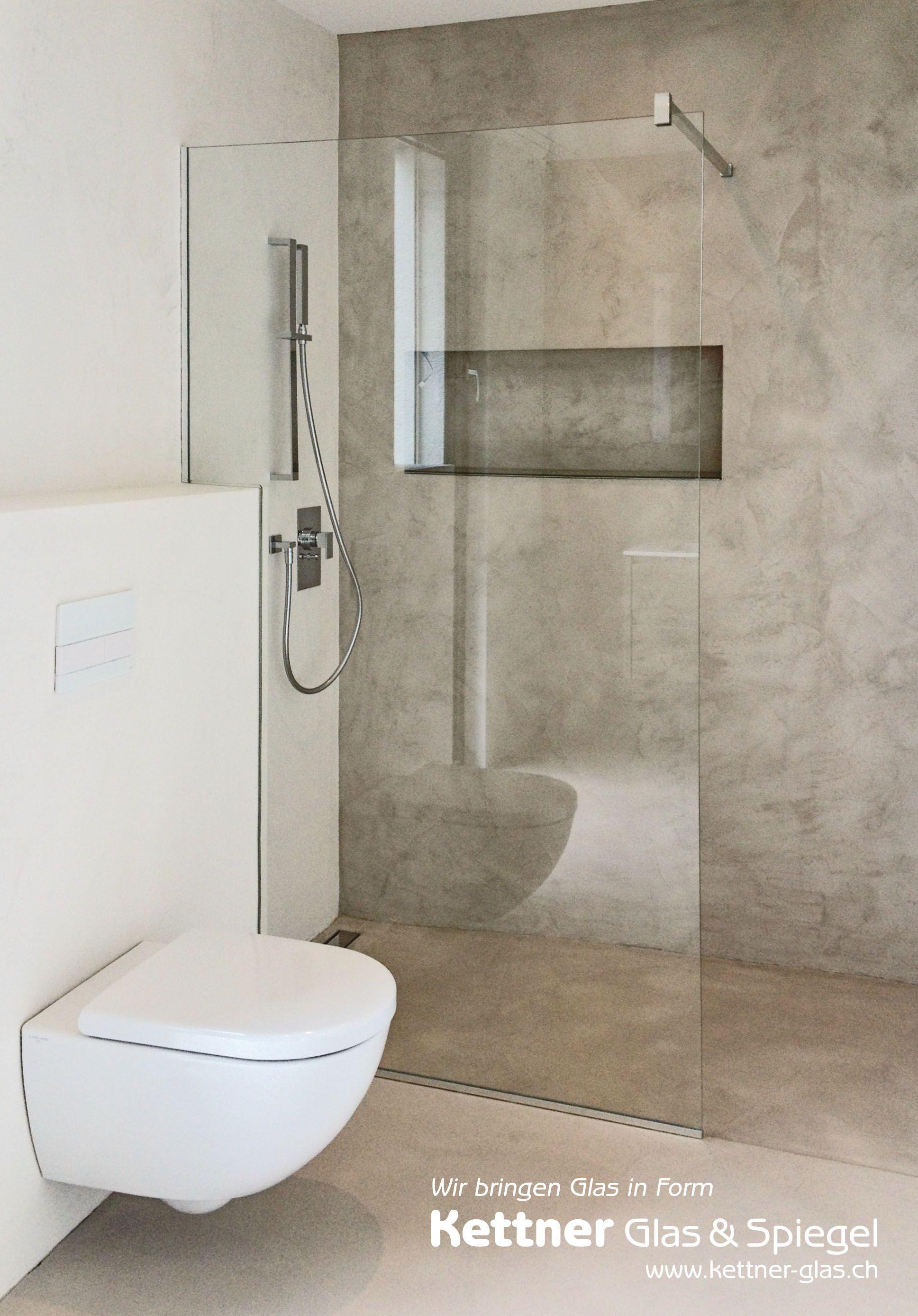 Duschtrennwand Aus Glas Mit Eckausbruch Und Eckiger Stabilisationsstange Badezimmer Duschtrennwand Badezimmerideen