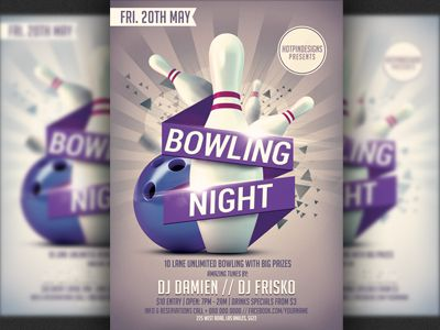 Bowling Nights Party Flyer Template Flyer template, Party flyer - bowling flyer template free