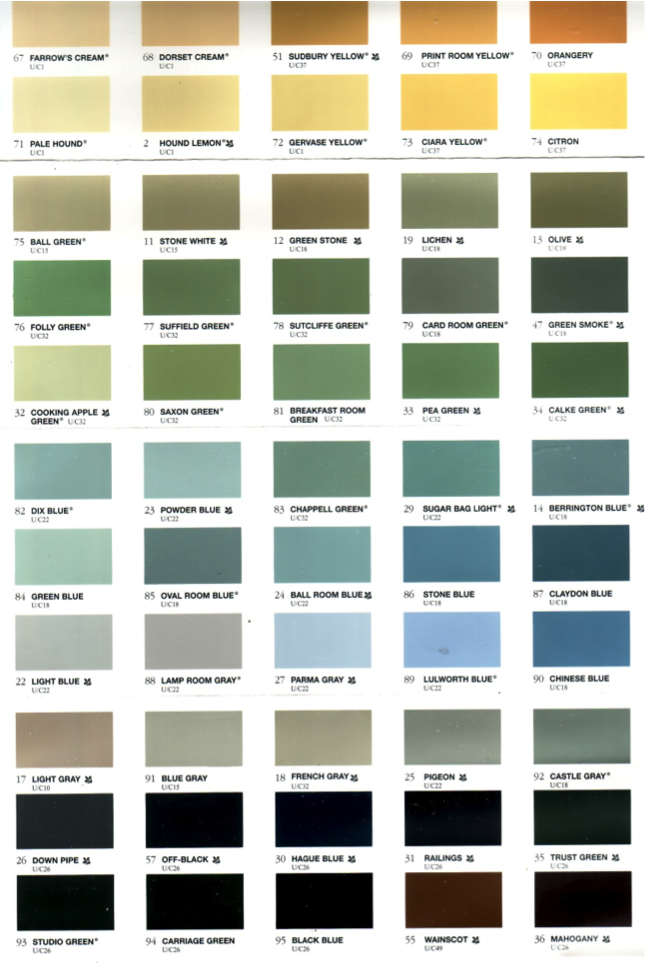 Specialist Paint Colours Farrow Amp Ball The Little