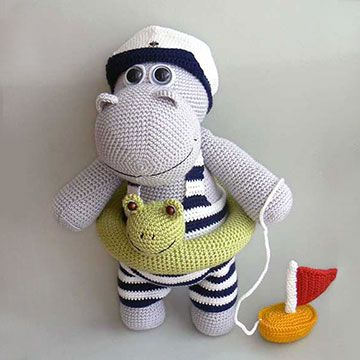 Hippo Amigurumi Patron : Henry the Hippo amigurumi pattern by Kamlin Patterns ...