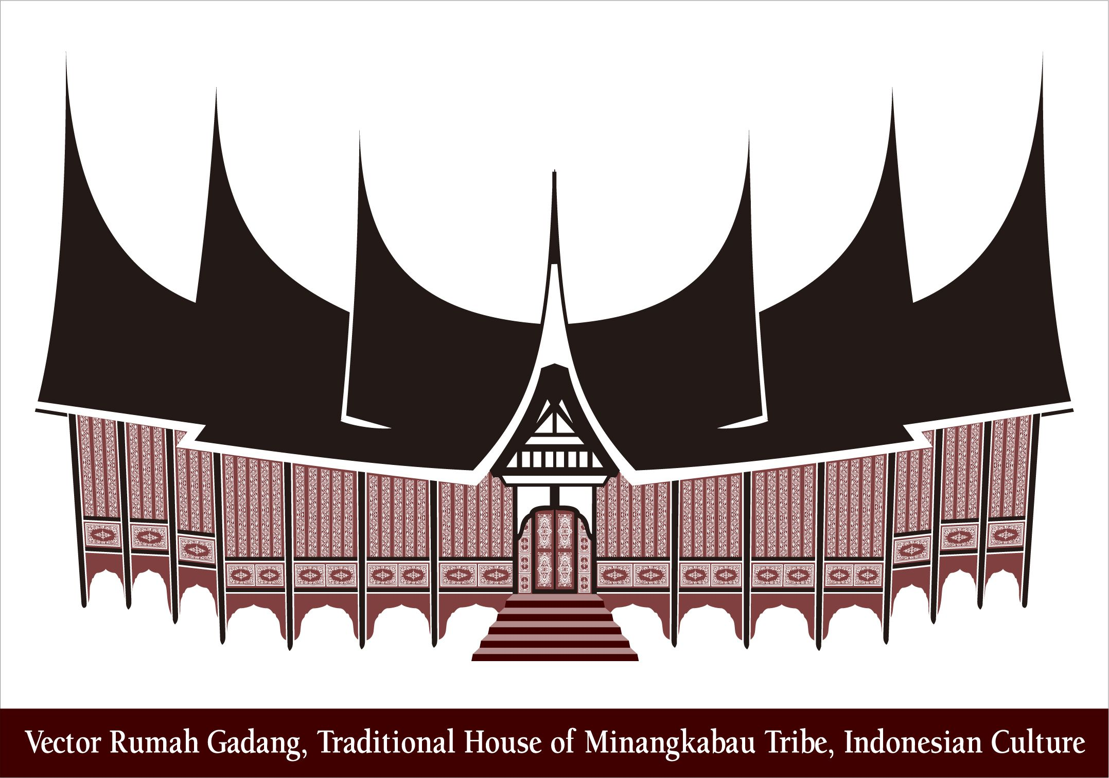 Rumah Adat Padang Vector