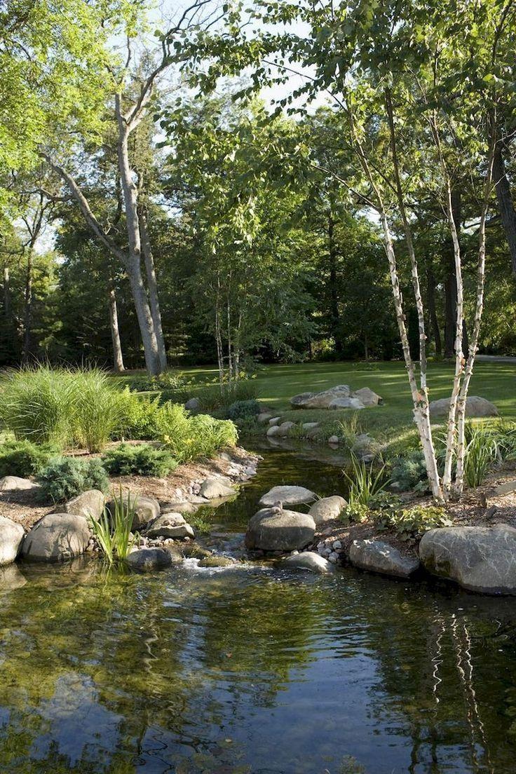 68+ Schöne Gartenteiche und Wassergarten-Ideen für die Landschaftsgestaltung #beautifulbackyards