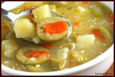 Spanish Potato and Green Olive Soup