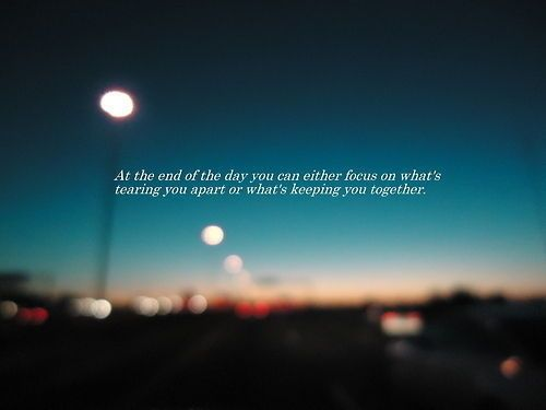 At The End Of The Day Quotes Bokeh Night City Day Lights Life