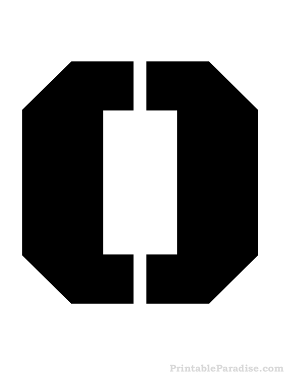 printable letter o stencil letter stencils pinterest stencils
