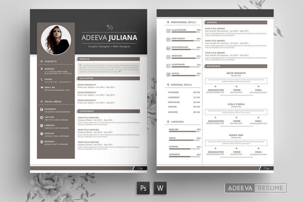 50+ Best CV & Resume Templates 2020 Cv resume template