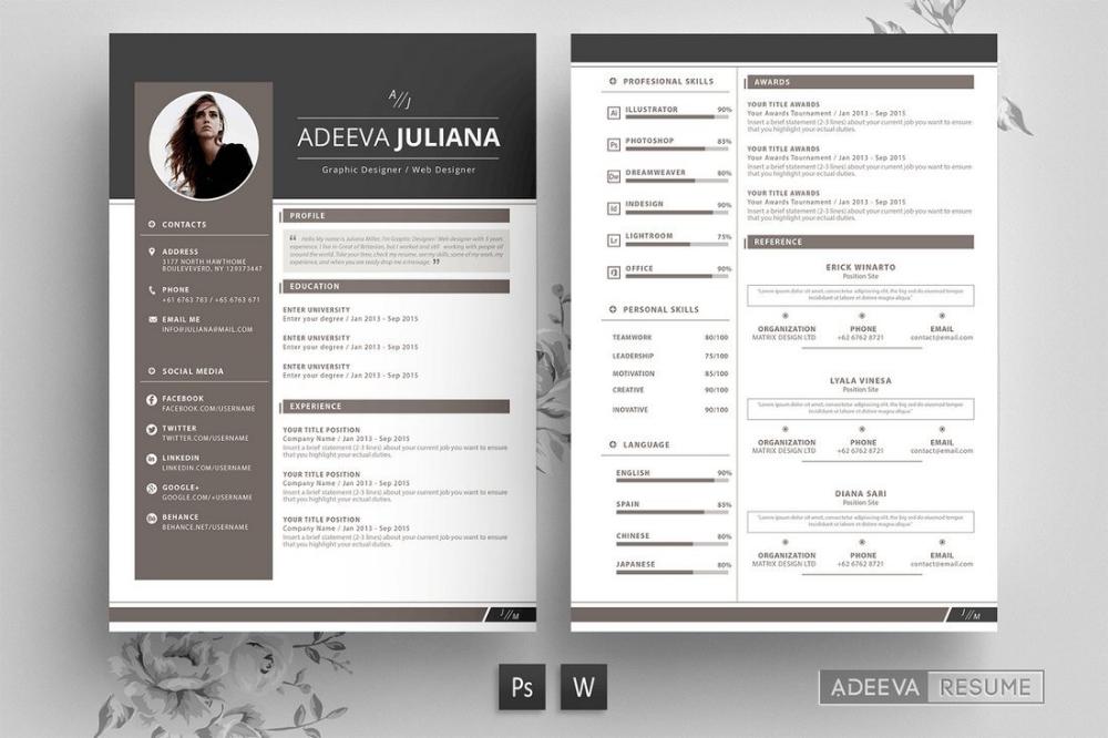 50 Best Cv Resume Templates 2020 Cv Resume Template Resume Templates Resume Design