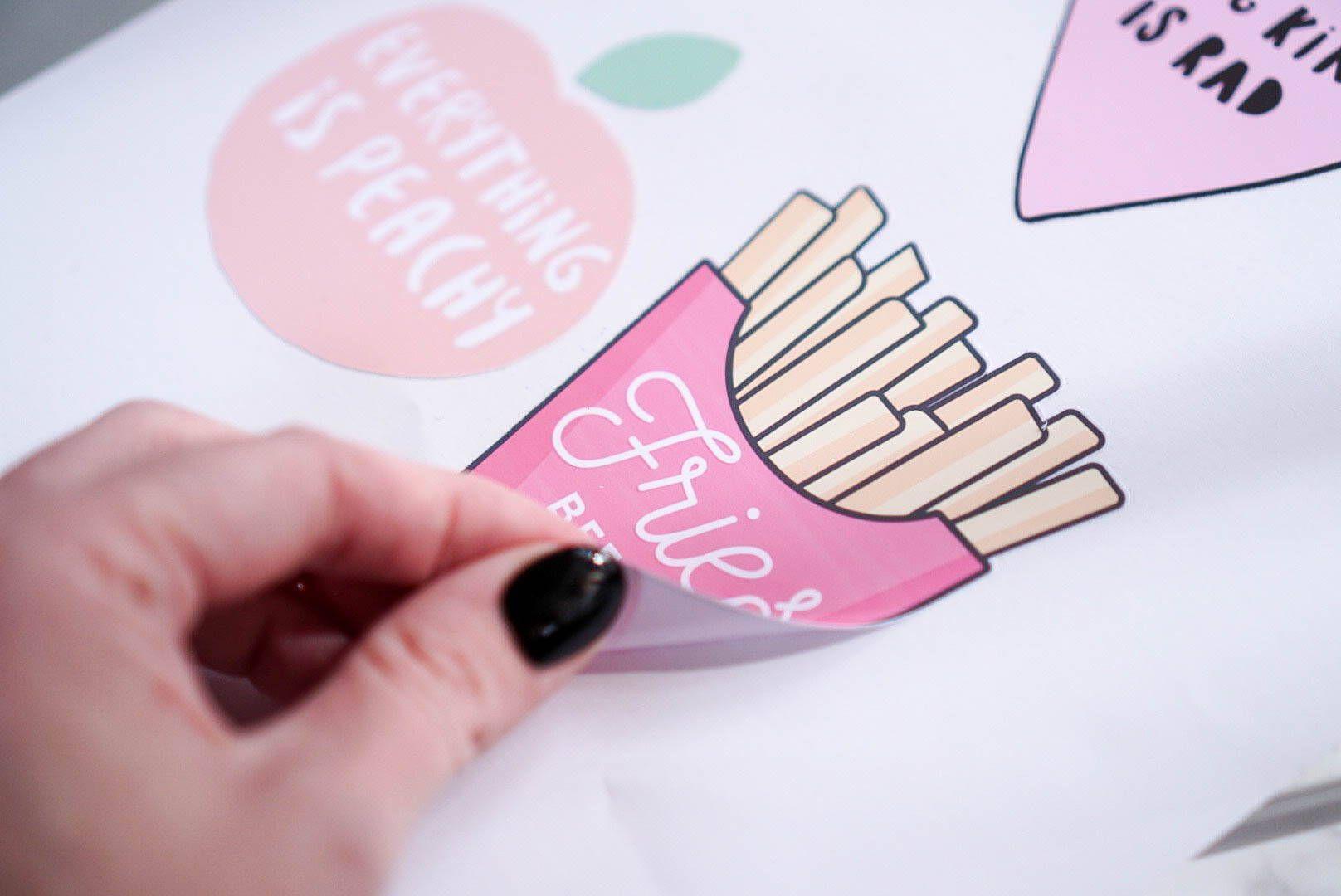 DIY Laptop Stickers Tutorial How to Use Inkjet Printable Adhesive Vinyl is part of Diy laptop, Laptop stickers, Laptop stickers diy, Laptop screen repair, Pink laptop, Computer skins - Learn how to print your own stickers using Inkjet Printable Adhesive Vinyl