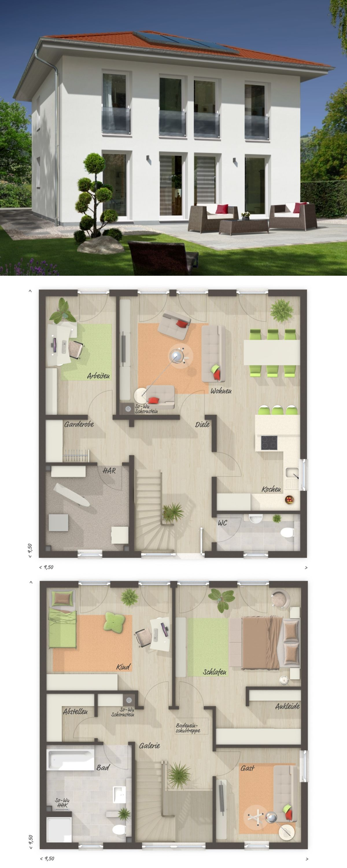 stadtvilla modern neubau klassisch mit zeltdach architektur 5 zimmer grundriss