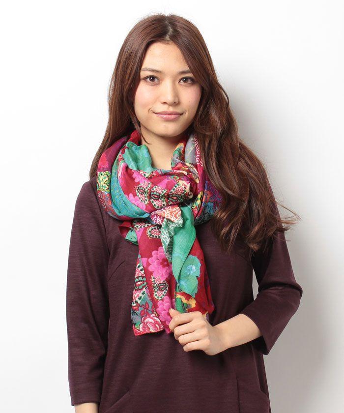 4366bae1351 Desigual Angelica 51W53A3 Scarves, Headscarves, Scarfs, Bandanas