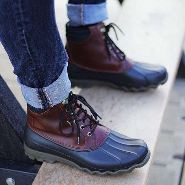 Mens duck boots outfit