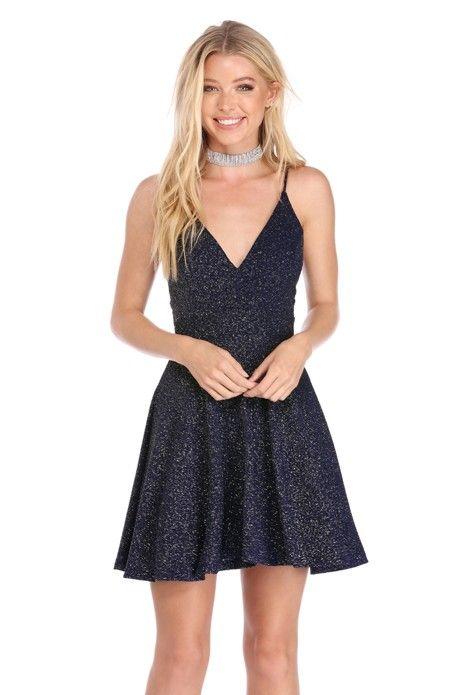 75e171a61dd4a0 Navy In A Flash Skater Dress