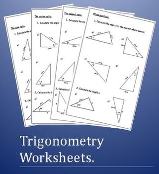Grade 10 Trigonometry worksheets   EduGain   Pinterest ...