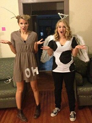 Oh dear! u0026 holy cow!  sc 1 st  Pinterest & Oh dear! u0026 holy cow! | Awesome BFF costumes Ideas! | Pinterest | Cow ...