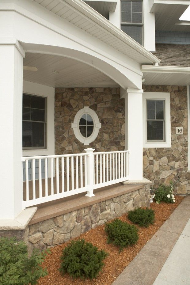 Best Elegant Traditional Home Exterior Porch Lush Greenery 400 x 300