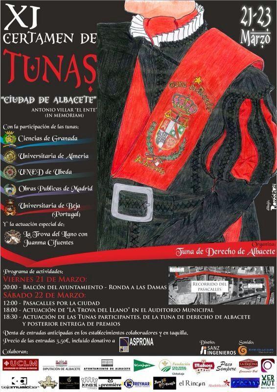 Certamen de Tunas Albacete 22 de marzo