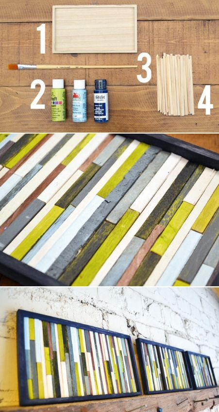 Popsicle stick art | Artsy | Pinterest | Popsicle stick ...