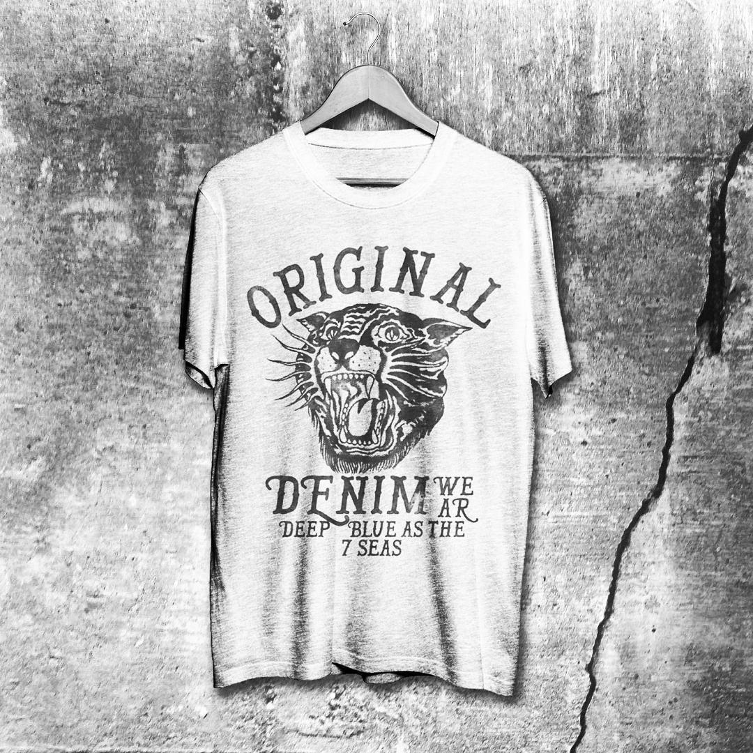 Another vintage denim wear inspired print from the archive #alsdesignstudio #thedustyinklab #aksellarsen #whitetee #9000 #aalborg #denmark #danish #iloveprints #printnerd #print #vintage #worn #wornout #texture #grunge #denim #denimwear #jeans #jeanswear #vintagestyle #vintagefashion #artwork #lettering #tshirt #tee #menswear #mensfashion #danishdesign #malefashion