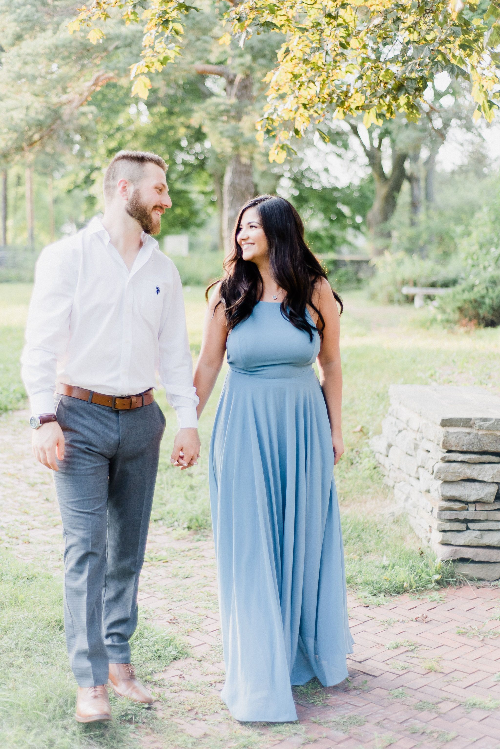 Gorgeous Bride To Be In Lulus Mythical Kind Of Love Slate Blue Maxi Dress
