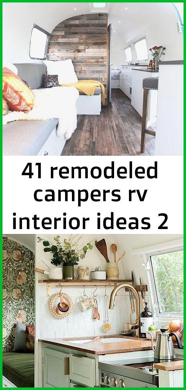 41 remodeled campers rv interior ideas 2 MEET MISS MARJORIE Airstream camper renovation Cool bohemi