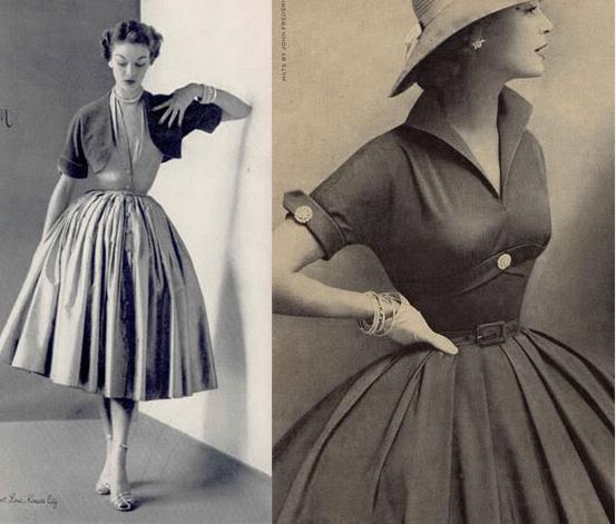 mode der 50er jahre entscheidend wurde die 50er jahre mode auch durch christian dior den. Black Bedroom Furniture Sets. Home Design Ideas