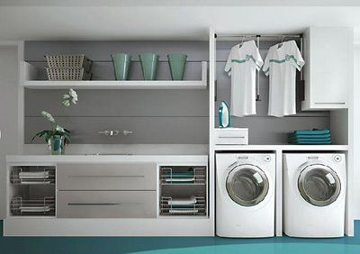 Construindo Minha Casa Clean: Lavanderias Lindas! Modernas, Decoradas ou Românticas?