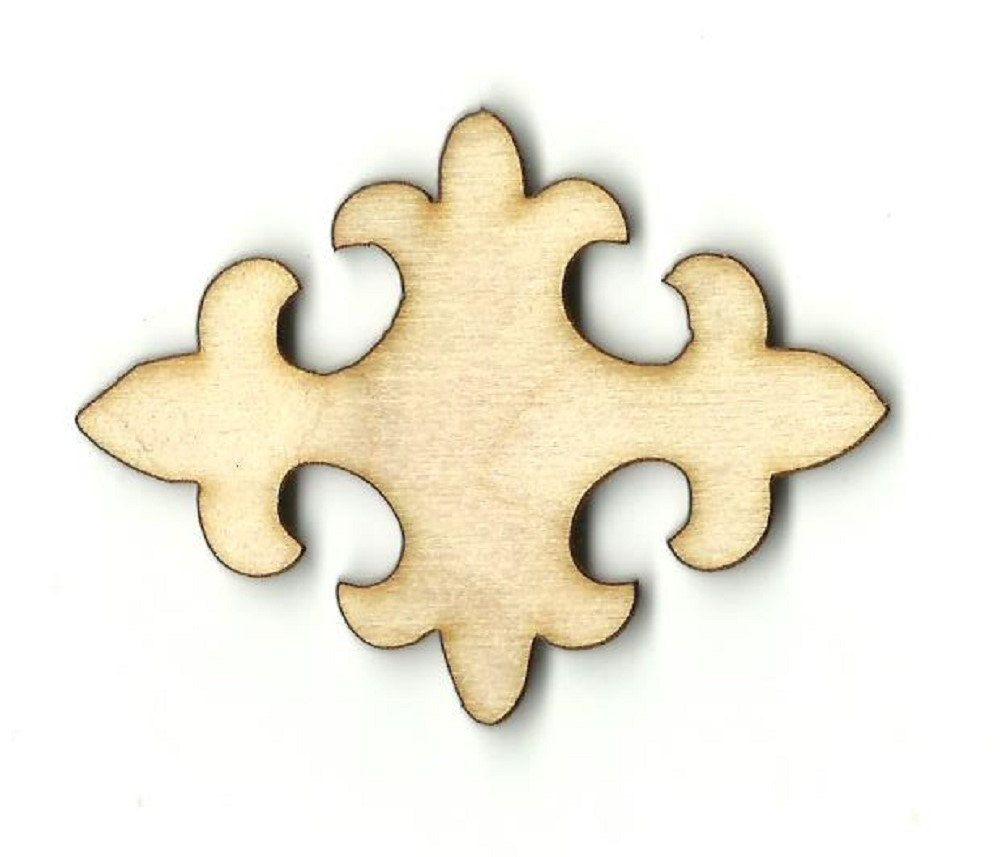 Fleur De Lis - Laser Cut Out Unfinished Wood Shape Craft Supply ...