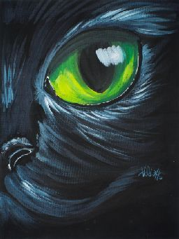 Tas171005 01s Jpg Black Canvas Paintings Black Canvas Art Cat Painting