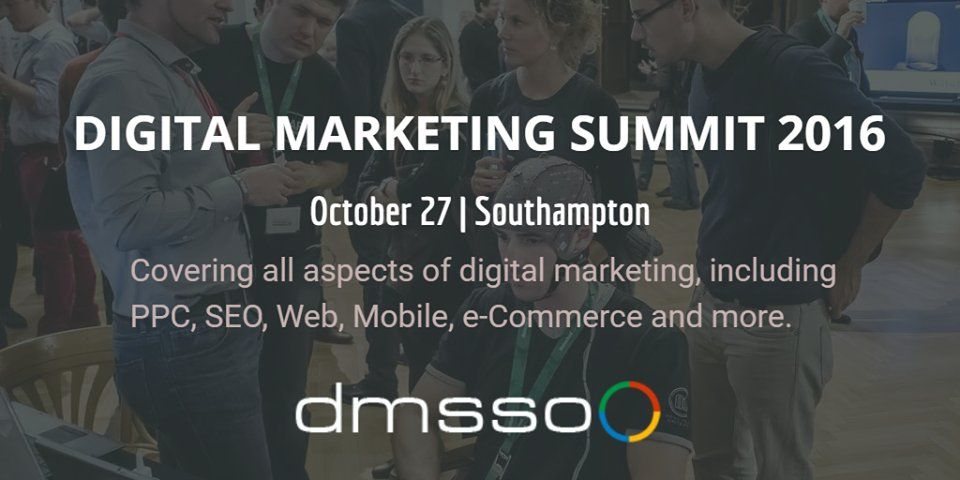 Digital Marketing Summitwill bring the UK's Leading Expertsto Southampton, on Thursday, 27th October. 18speakerswill share their knowledge in social media, PPC, SEO, Web, Mobile, e_Commerce and more to other marketers and business owners attending the event, organised by Eventz.Digital in partnership with Google. There are 16 Key-note presentations and 4 Boot camp events planned at#dmsso16