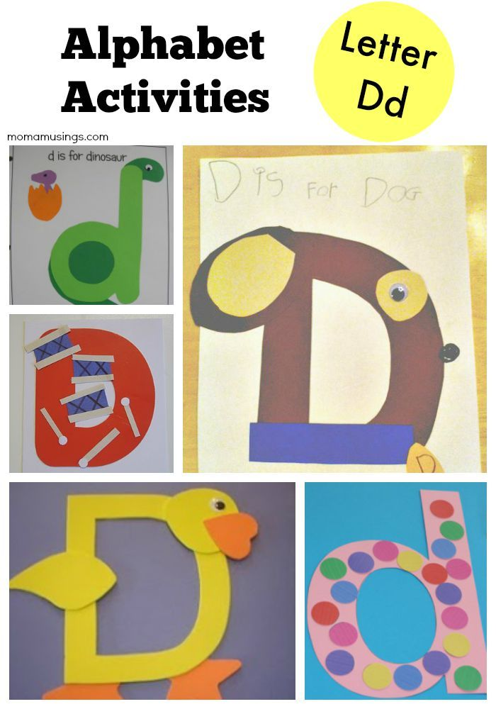 language arts for preschoolers alphabet activities all about the letter d crafts 711