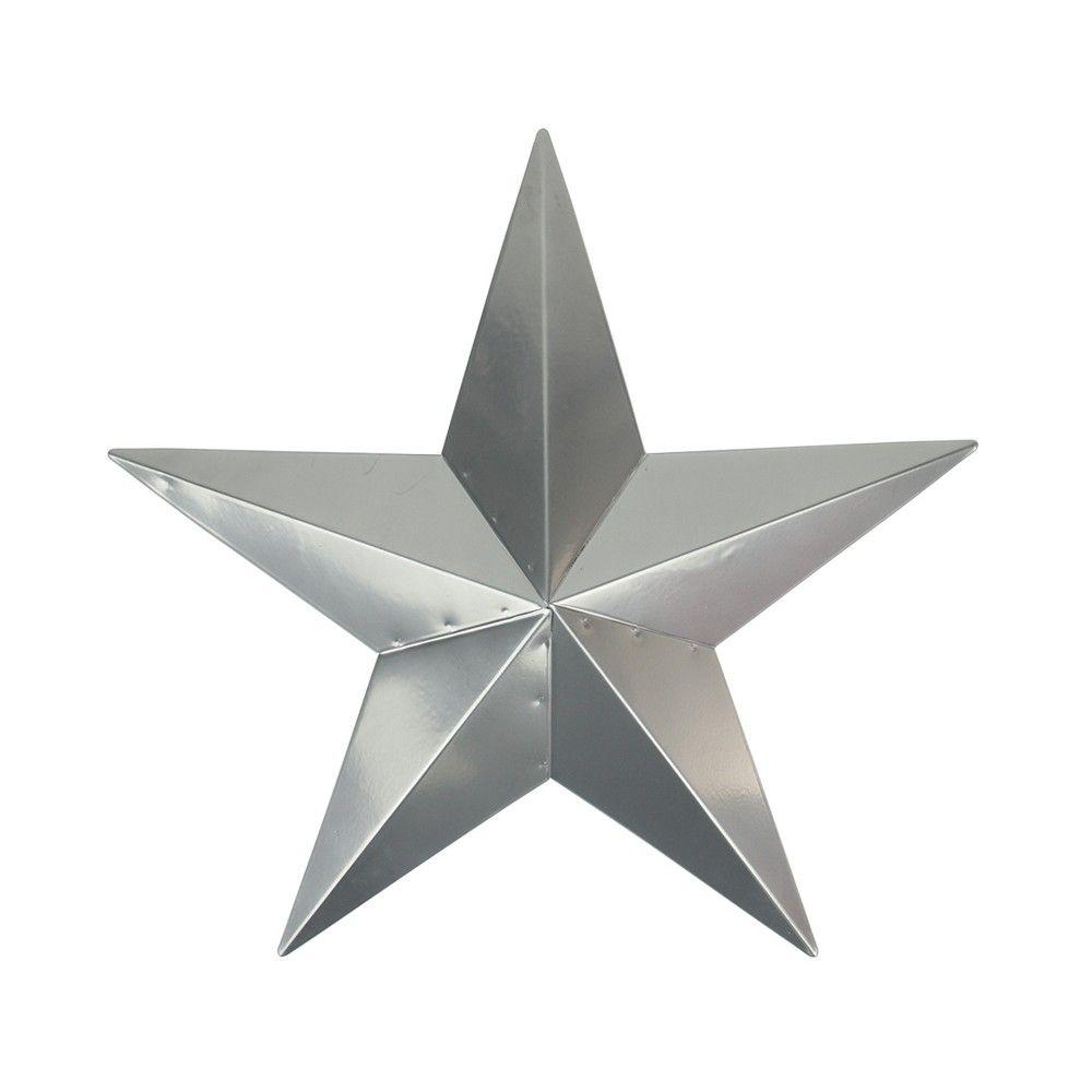 Northlight 3' Silver Rustic Star Indoor/Outdoor Wall