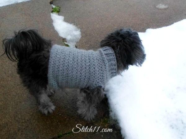 Free Crochet Dog Sweater Pattern Crochet Pinterest Dog Sweater