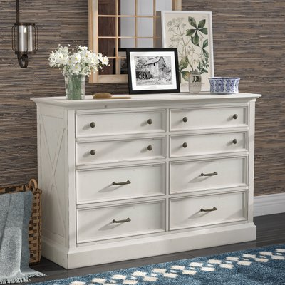 Best Laurel Foundry Modern Farmhouse Moravia 8 Drawer Double 400 x 300